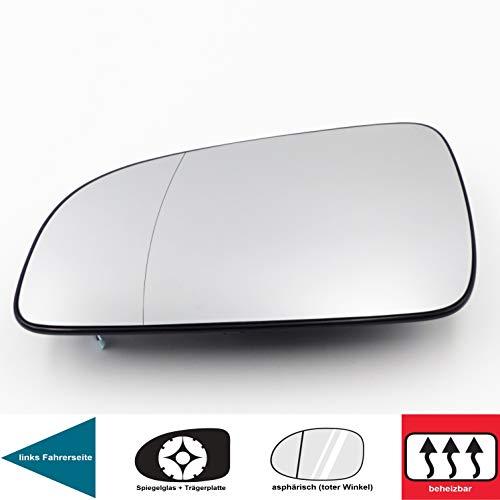 QSParts 4673 Spiegelglas Heizbar Für 5 Türen Links Fahrerseite