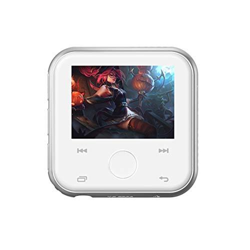 MP3 Musik Player mit Clip SSTARY,mit Bluetooth-HiFi-Sound,4 GB / 8 GB-Speicher, TF-Karte, Multifunktions-Video, Foto-Viewer und UKW-Radio-White 8G Digital Pocket Viewer