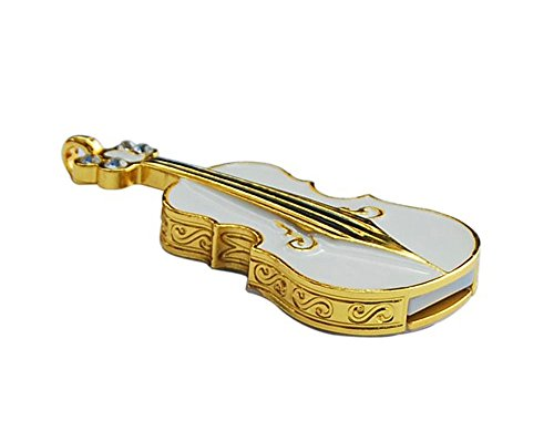 niceeshop(TM) Klein Weiß Violine Form 8GB USB Flash Speicher Drive mit Einer Kette