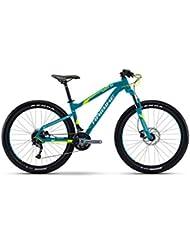 Haibike Seet hardseven Plus 1.027.5r Mountain Bike 2017, Cyan/Gelb/Weiß matt