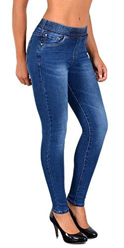 by-tex Damen Jeans Hose Damen Skinny Jeanshose Jeggings mit Gummibund Skinnyjeans bis große Größen J291