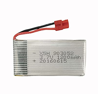 Fytoo 3.7V 1200mAh Battery for Syma X5HC X5HW RC Quadcopter Spare Parts RC Camera Drone Accessories