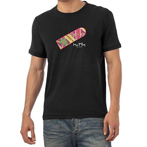 Texlab Herren McFly Pro Series Hoverboard T-Shirt, Schwarz, XXL