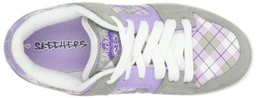 Skechers Soulmates Sidekicks 80918L BKPR, Baskets mode fille Gris-TR-L-1-61