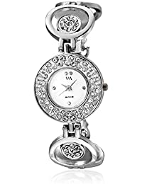 Watch Me White Dial Silver Metal Strap Watch For Girls WMAL-239 WMAL-239omt