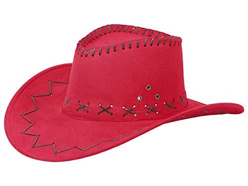 Alsino Cowboyhut Westernhut in One Size Größe aus Polyester, Rot (07) (Western Und Country Party Kostüm)