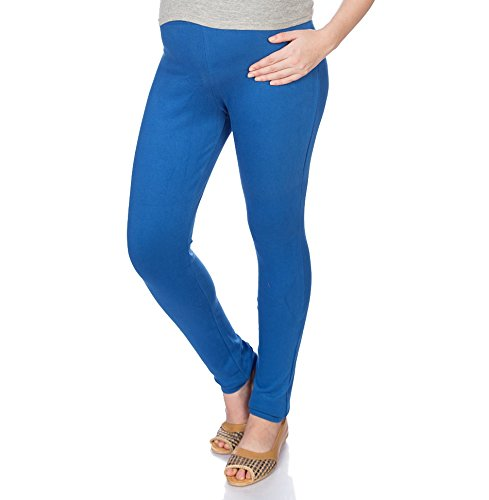 Goldstroms Women's Maternity Pant/Legging (Royal Blue, L)