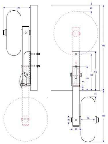 Slipräder für Schlauchboot, EDELSTAHL (Salzwasser) - DeluxeTrans PU200 SR (schwarz/rot) -