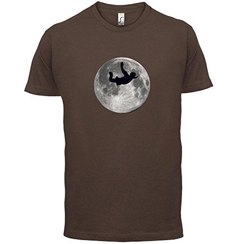 Sky Diving Moon - Herren T-Shirt - 13 Farben Schokobraun