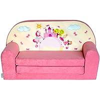 FORTISLINE Kindersofa Mini zum Aufklappen Pink Castle W386_09 preisvergleich bei kinderzimmerdekopreise.eu