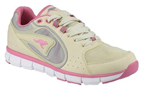 Kangaroos , Damen Sneaker Sand/Pink