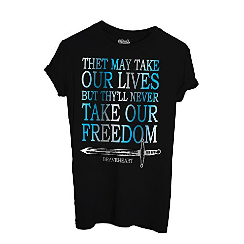 MUSH T-Shirt Braveheart Film Quotes - Film by Dress Your Style Nera