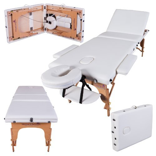Massage Imperial® Kensington Lettino da Massaggio Deluxe Ultraleggero - Crema