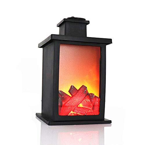 SUTIANZHANG Lámpara de Chimenea LED con Efecto de Llama Linterna de Chimenea...