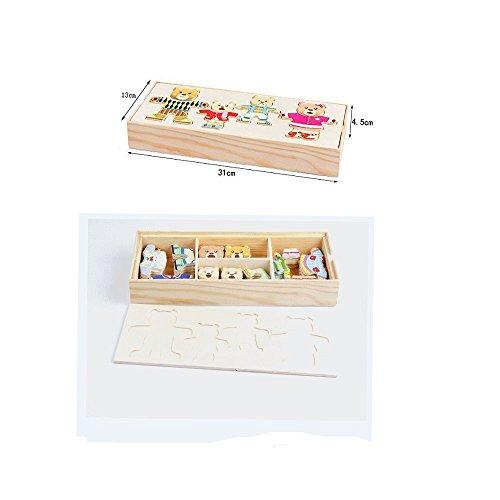 Zoom IMG-2 itian puzzle di legno famiglia