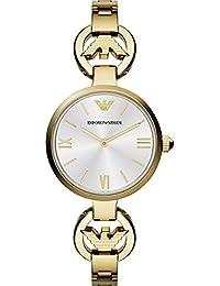 Emporio Armani AR1774 - Reloj de cuarzo para mujer, correa de acero inoxidable color dorado