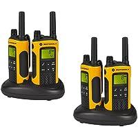Motorola TLKR T80 Extreme Quadpack PMR Funkgeräte nach IPx4 (wetterfest, Reichweite bis zu 10 km)