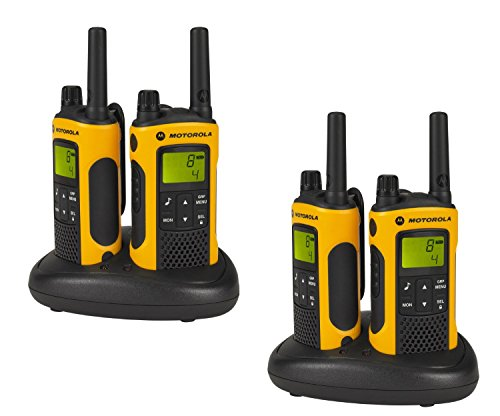Motorola TLKR T80 Extreme Quadpack PMR Funkgeräte nach IPx4 (wetterfest, Reichweite bis zu 10 km) (Motorola Solutions)