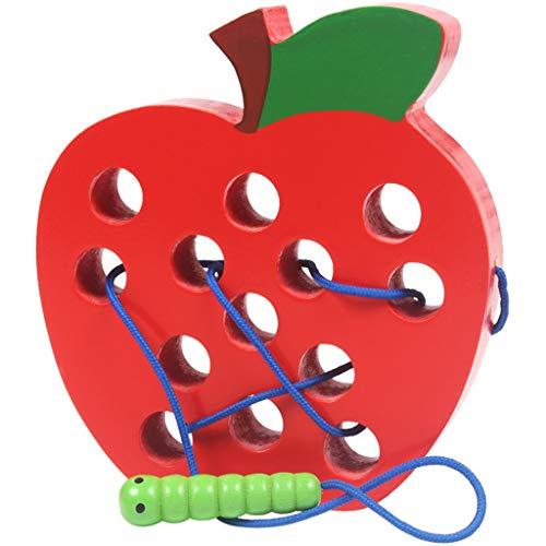 Vektenxi Wurm Essen das Apple-Kind, das das pädagogische Spielzeug verlegt, das stilvoll und populär ist