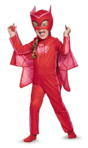 Disguise Owlette Classic Toddler PJ Masks Costume, Medium/3T-4T