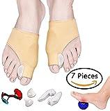 XinLace Toe Protector 8 Pezzi Splint e Splint Pad Correttore separatore Martello Corredo per Uomo e Donna Punta per Pad