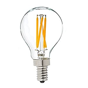 Bulk Hardware BH05055 4 W Small Edison Screw G45 LED Filament Bulb, Equivalent to 40 W, Glass, E14 - Warm White