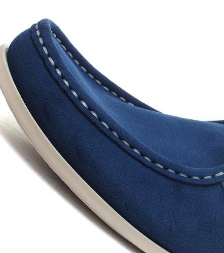 Base London Catch, Chaussures à lacets hommes Suede Petrol
