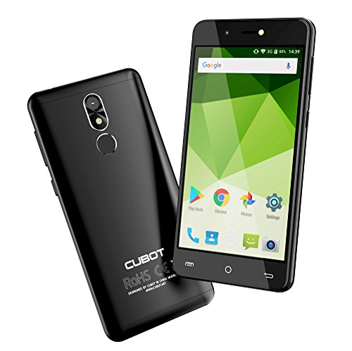 VICTSING Dual SIM Smartphone ohne Vertrag, CUBOT R9 Android7 2GB RAM+16GB ROM(erweiterbar) Mobilephone, 5,2Zoll HD Touch-Display,FingerPrint-Sensor,13MP&5MP Kamera,Metallrahmen, 7,85mm dünn(Schwarz)