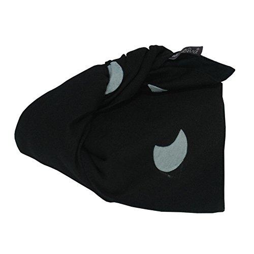 [Mitternacht] handgemachte Wickeltuch Leinwand Mittagessen Tasche, schwarz
