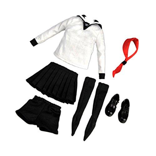 1:6 Frau Figur Kleidung Mädchen Sailor Schuluniform School Girl Kleidungset (Uniform Girl Sailor)