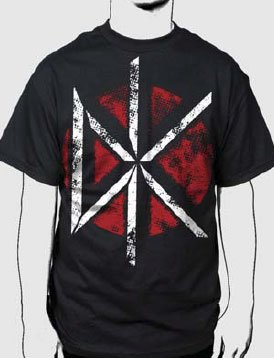 Dead Kennedys - Distressed Dk Logo Adult T-Shirt In Black,