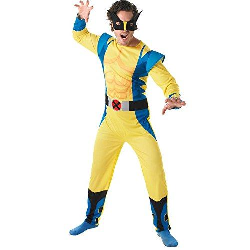 Rubie's Offizielles Marvel Wolverine, für Erwachsene Kostüm–Standard Größe