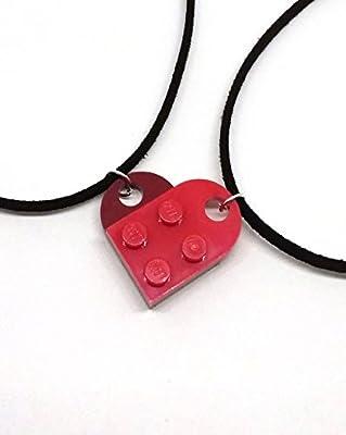 Colliers coeur séparable en Lego