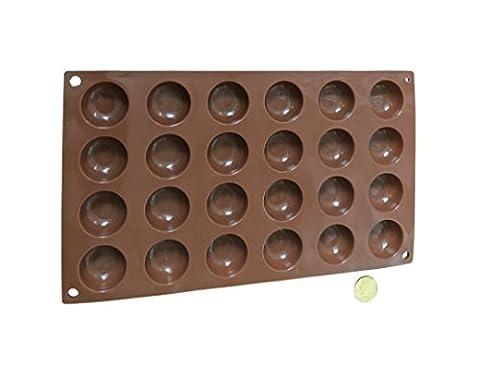 24 Halbkugeln Bällchen Silikonform Backform Schokoladenform Kuchenform Eiswürfelform Pralinenform Cupcake Keks Kuchen Basteln Backen Verzieren Eckige Runde Form von ROYAL