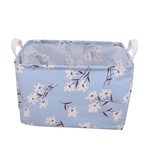 Gaddrt portabiancheria storage bin in tela, con ganci per uso domestico stoccaggio, tessuti o giocattoli–20cm * 16cm*13cm c