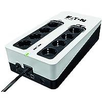 Eaton 3S UPS 700VA - 3S700D - Sistema de alimentación ininterrumpida SAI - 8 Salidas Tipo DIN - Off-Line - Negro y Blanco
