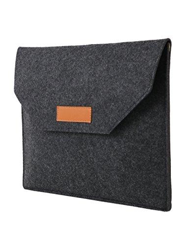 FHQSX Laptoptasche Filz Laptop Aktentasche Skin Attache für Apple MacBook Air 13.3 Zoll für Damen/Herren - Grau Laptop Attache