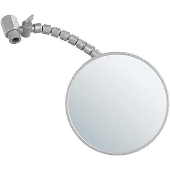 Mdesign miroir loupe rond miroir maquillage accrocher au mur l aide de ventouse miroir for Miroir loupe