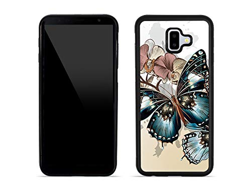etuo Samsung Galaxy J6 Plus - Hülle Aluminum Fantastic - Schöne Schmetterlinge - Handyhülle Schutzhülle Etui Case Cover Tasche für Handy