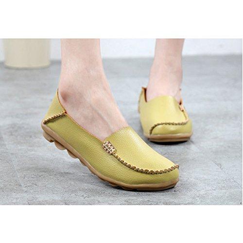 Cczz Mocassins Womens Conduite Chaussures Mode Chaussures En Cuir Confortable Penny Mocassins Apple Vert