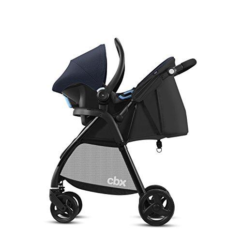 cbx 2-in-1 Reisesystem, Kinderwagen Misu TS + Babyschale Shima, Inkl. Regenverdeck und Adapter für Babyschale, Ab Geburt, Jeansy Blue
