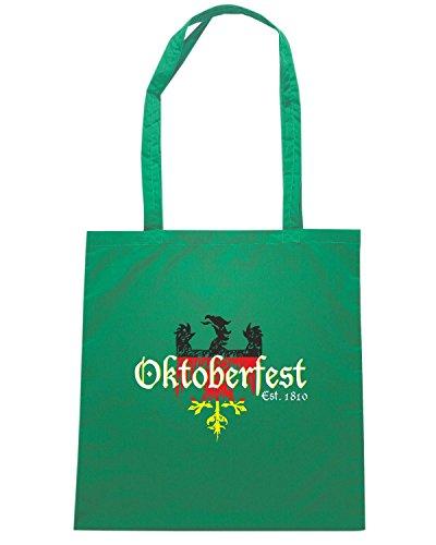 T-Shirtshock - Borsa Shopping BEER0090 Oktoberfest Established 1810 Verde