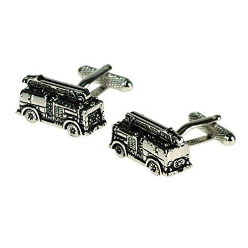 Men's Designer Cufflinks - Fire Engine - For the Fire Fighter - Ideal Fathers Day Gift by Fire fighter