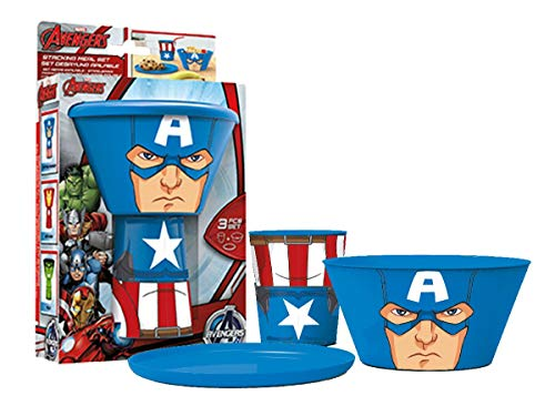 Stacking Meal Set - Captain America (Avengers)