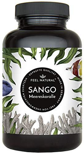 Sango Meereskoralle Kapseln - 180 Stück (2 Monate). 3300mg, davon 660mg Calcium, 330mg Magnesium (2:1 Verhältnis). Laborgeprüft, hochdosiert, hergestellt in Deutschland