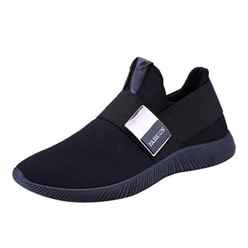 TianWlio Sneaker Herren Outlet Schuhe Online Mode Männer Sneakers Freizeitschuhe Atmungsaktives Mesh Schuhe Student Laufschuhe Schwarz Rot Grau 39-46