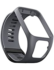TomTom Wechselarmband für TomTom Spark 3 / Spark / Runner 3 / Runner 2 GPS-Uhren, Grau, Größe S