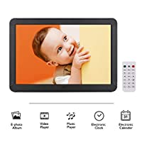 ‏‪Andoer P801 8 Inches LED Digital Photo Frame Desktop Electronic Album 1280 * 800 HD 16:9 Display Supports Music/Video/Photo Player/Alarm Clock/Clock/Calendar Functions with Remote Control‬‏