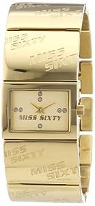 Reloj Miss Sixty R0753120503 de cuarzo para mujer con correa de acero inoxidable, color dorado de Miss Sixty
