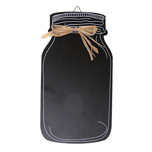 LOVIVER Shabby Flasche Chalk Board Memo Nachricht Blackboard Home Hochzeit